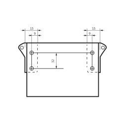 Продольные рейлинги СТ.159, L=500мм, белые Установочные размеры
