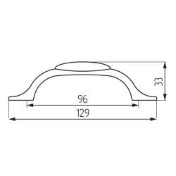 Ручка-скоба L1947-MLK-1-96, керамика Чертеж