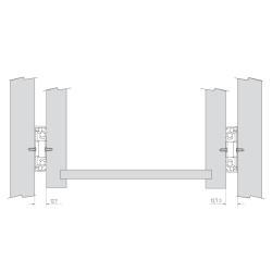 Шариковые направляющие полного выдвижения FGV 550 мм H=45мм  Установочные размеры