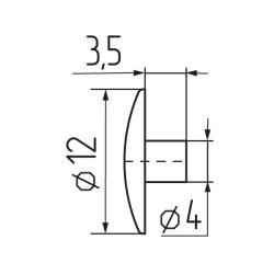 Заглушка №8 под  шестигранник  Чертеж