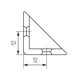 Уголок монтажный обливной дуб (16) Чертеж