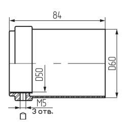 Стакан д/верхнего крепления d 50мм Z-005,хром Чертеж