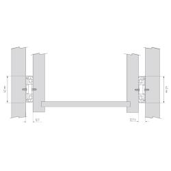 Шариковые направляющие полного выдвижения 550 мм Н=45 1,0x1,0x1,0мм Установочные размеры