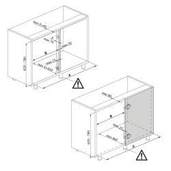 Механизм угловой GIRASOLO левый Compagnucci  Установочные размеры