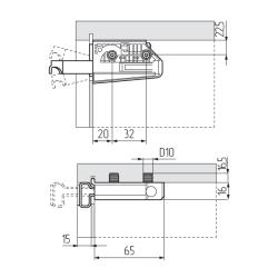 Подвеска регулируемая 806.22.P2.IN.DX на втулках (65кг), правая R, CAMAR Схема установки