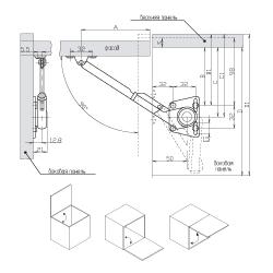 Кронштейн антресольный LS01 , комплект левый+правый Схема установки