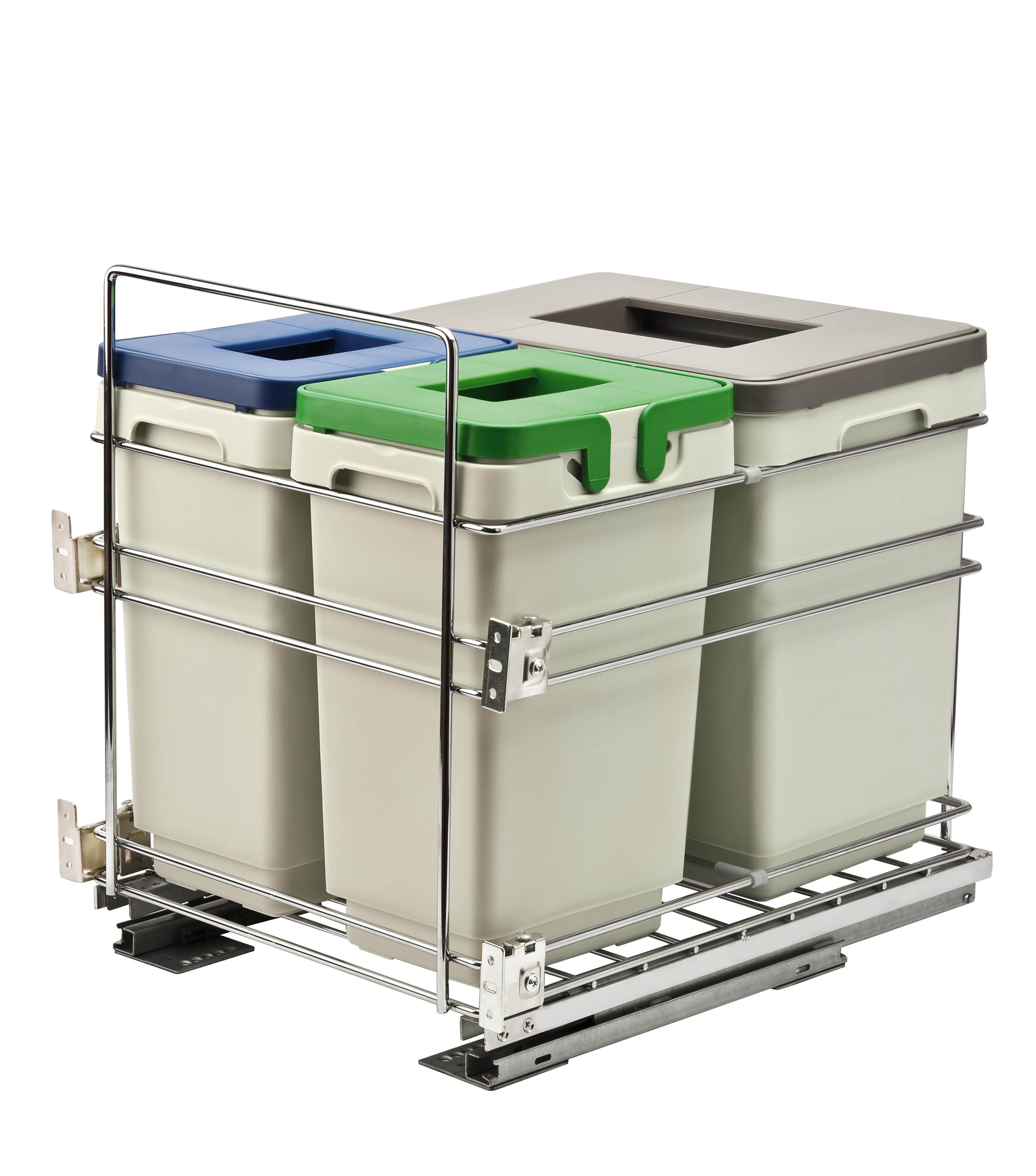 Выдвижная система раздельного хранения UNIHOPPER на 3 емкости