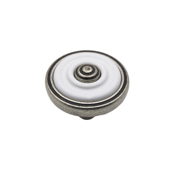 Ручка-кнопка R63 античное серебро