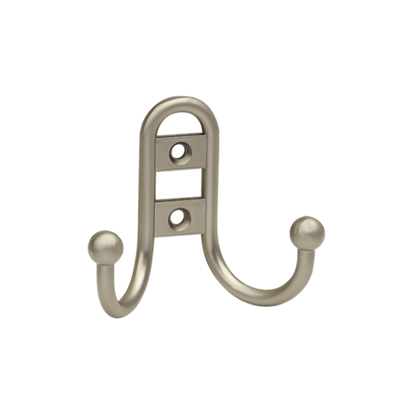 крючок R15 двухрожковый матовый никель