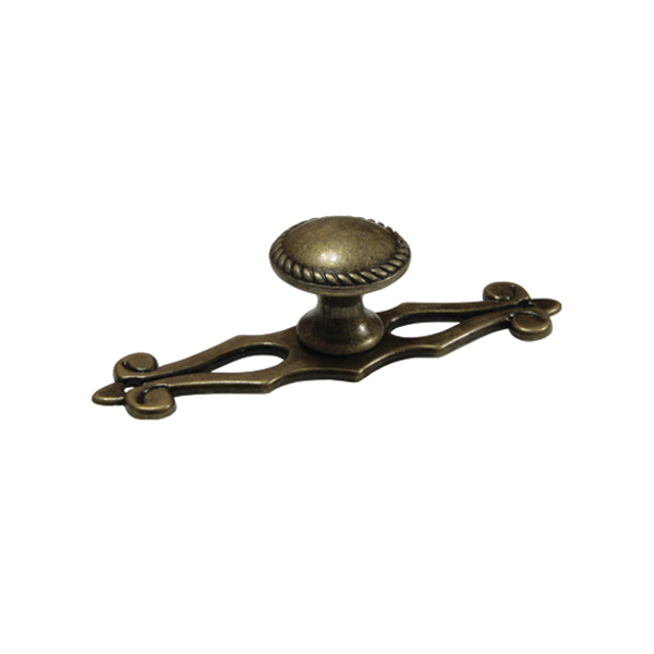 Ручка-кнопка старая бронза