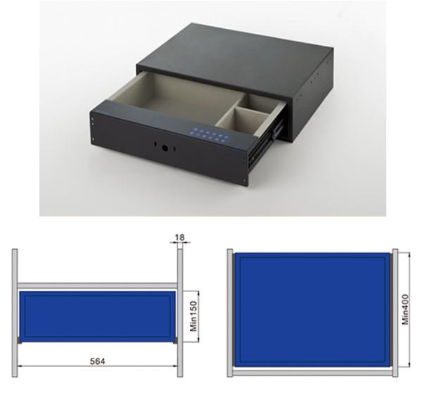 Встроенный в мебель сейф с тачскрином
