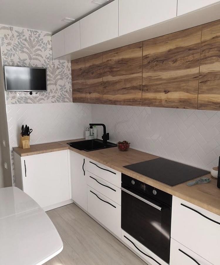 Фото кухни с ручками r30 в стиле модерн