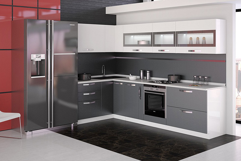 Фото кухни с ручками r10 в стиле минимализм